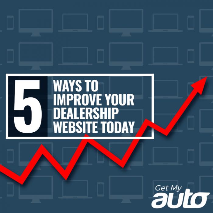 5 Ways to Improve Your Dealership Website Today-GetMyAuto