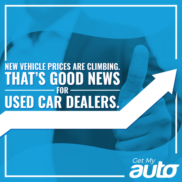New Vehicle Prices are Climbing. That's Good News for Used Car Dealers- GetMyAuto