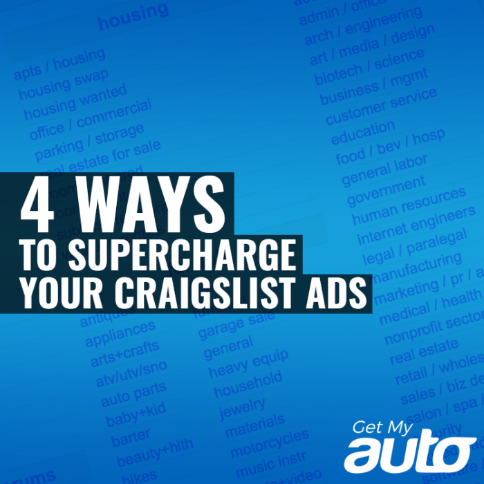 4 Ways to Supercharge Your Craigslist Ads Get My Auto