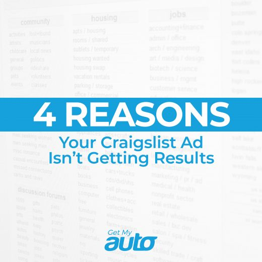 4 Reasons Your Craigslist Ad Isn't Getting Results GetMyAuto